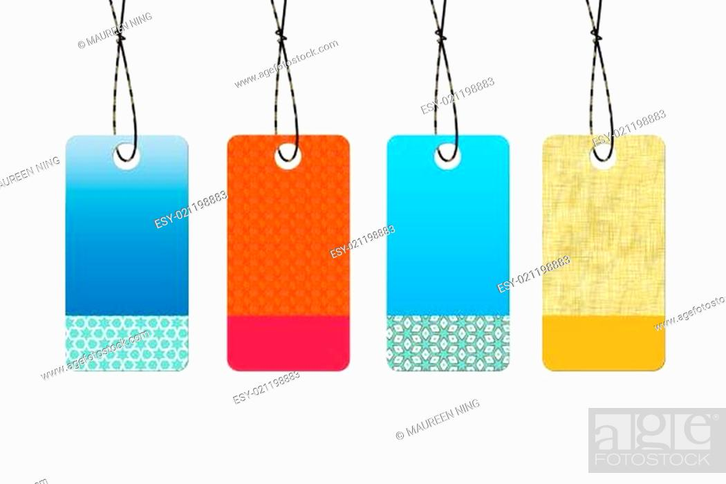 Stock Photo: Abstract empty sale tags.