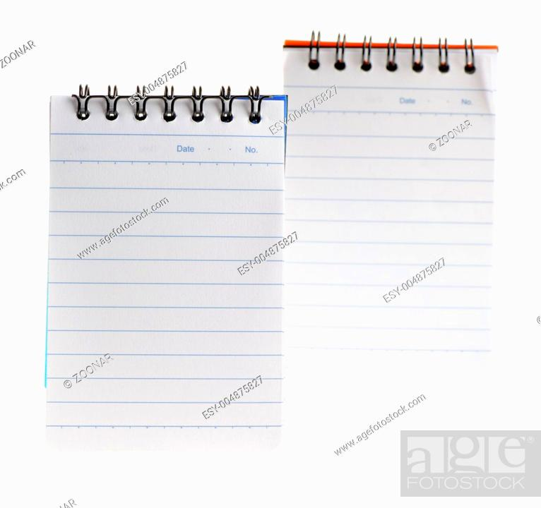 Stock Photo: Notebook two isolated.