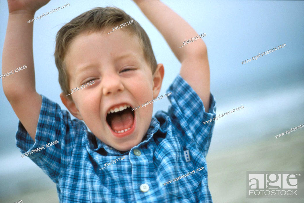 Stock Photo: happy young boy.