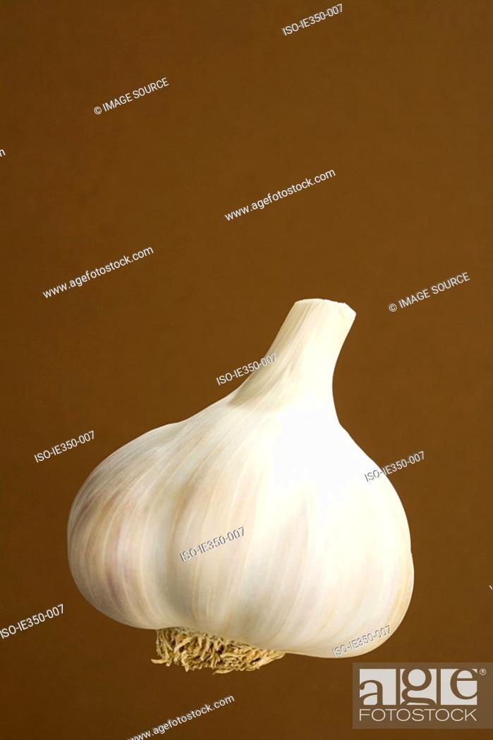 Stock Photo: Bulb of garlic.