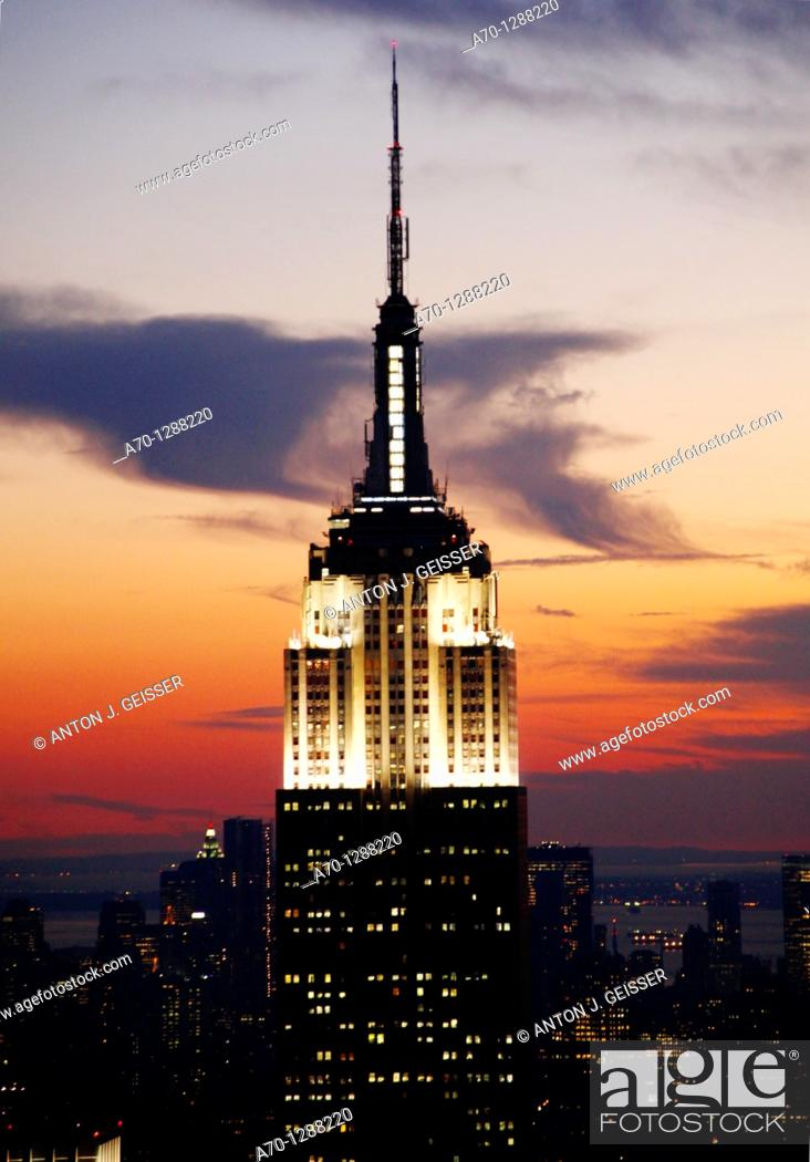 Stock Photo: New York City, view from rockefeller center.