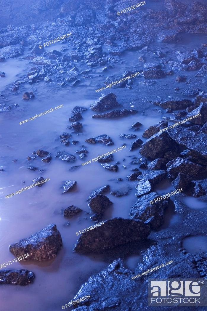 Stock Photo: Blue, Rocks, Scattered.
