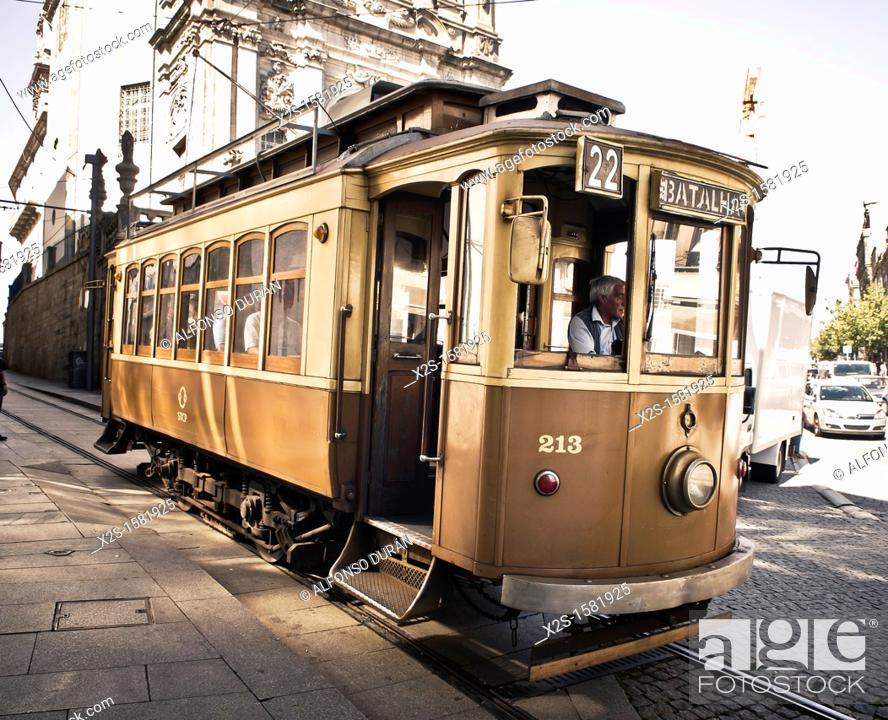 Stock Photo: tramline, Porto, Portugal.