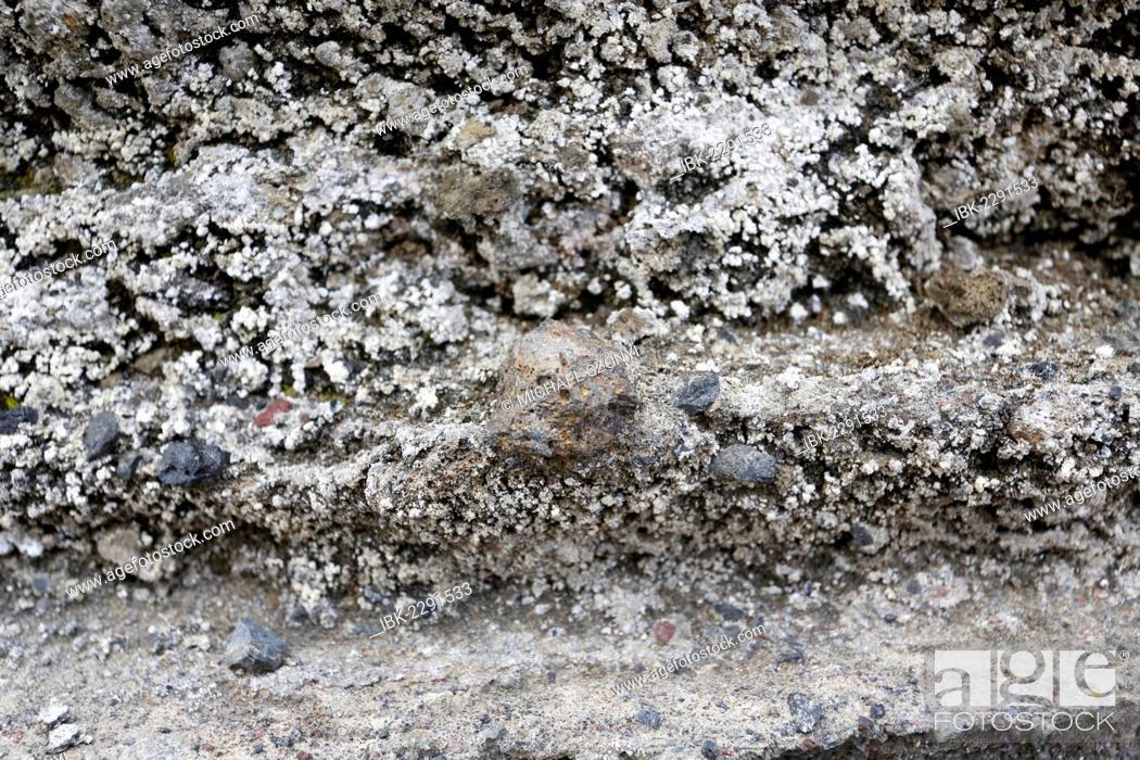 Stock Photo: Lapilli, volcanic bombs, in ash deposits, Kilauea, Hawaii Volcanoes National Park, USA.