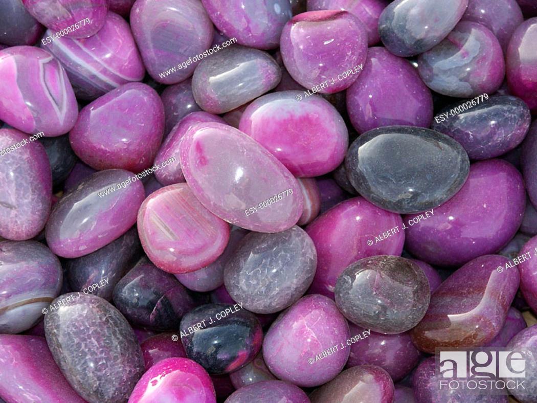 Stock Photo: Quartz pebbles.