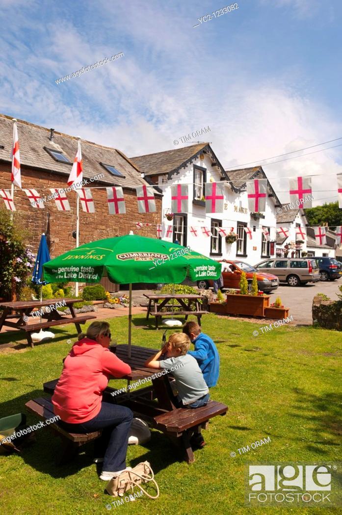 Stock Photo: The White Mare pub in Beckermet in Cumbria , England , Great britain , Uk.