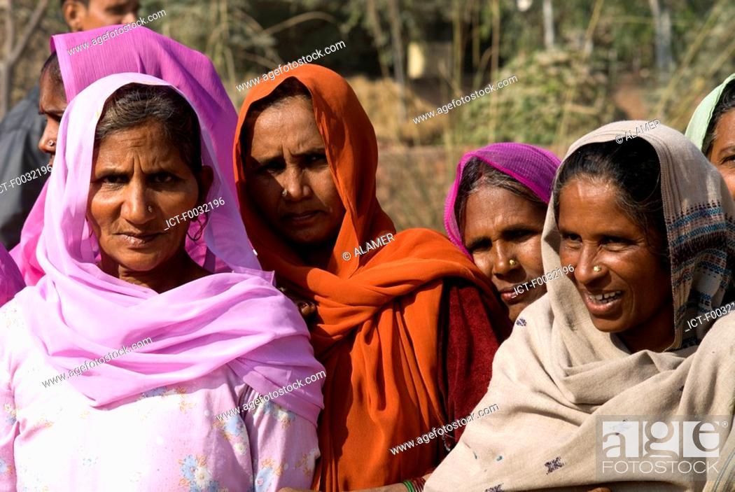 Stock Photo: India, Haryana, hindu women.