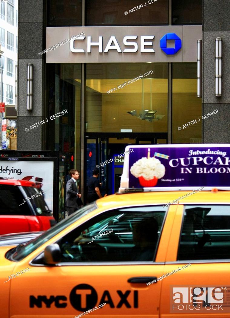 Stock Photo: Chase Bank. Manhattan. New York City. USA.