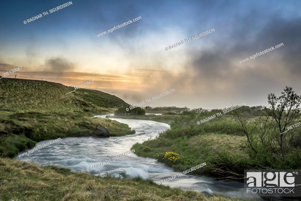 Stock Photo: Laxa river in Thingeyjarsysla, Lake Myvatn, Iceland.