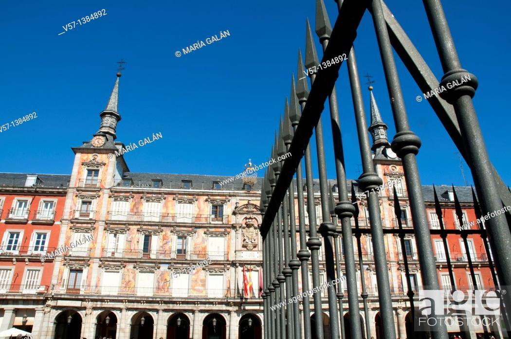 Stock Photo: Casa de la Panadería, Plaza Mayor. Madrid, Spain.