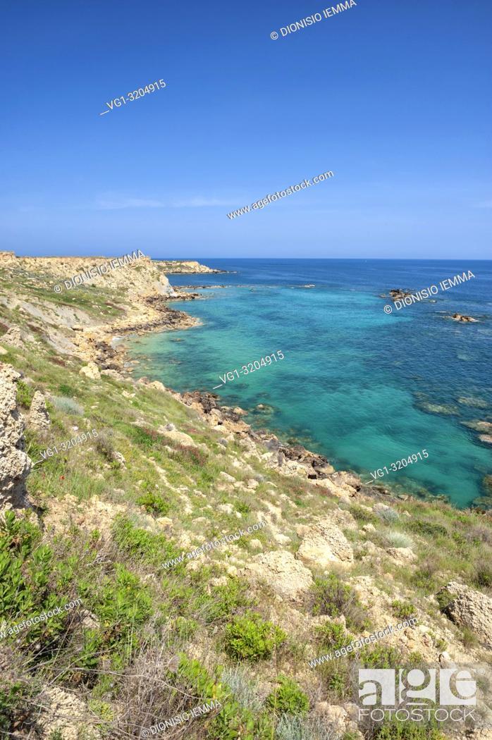 Stock Photo: Isola di Capo Rizzuto, Crotone district, Capo Cimiti, Marine protected natural area Capo Rizzuto, Calabria, Italy, Europe.