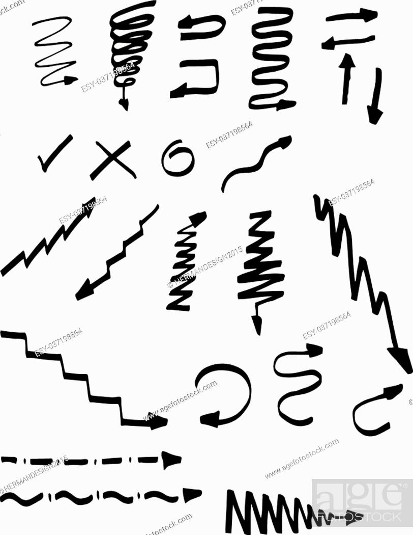 Stock Vector: Scribble Stains Hand drawn in penci.