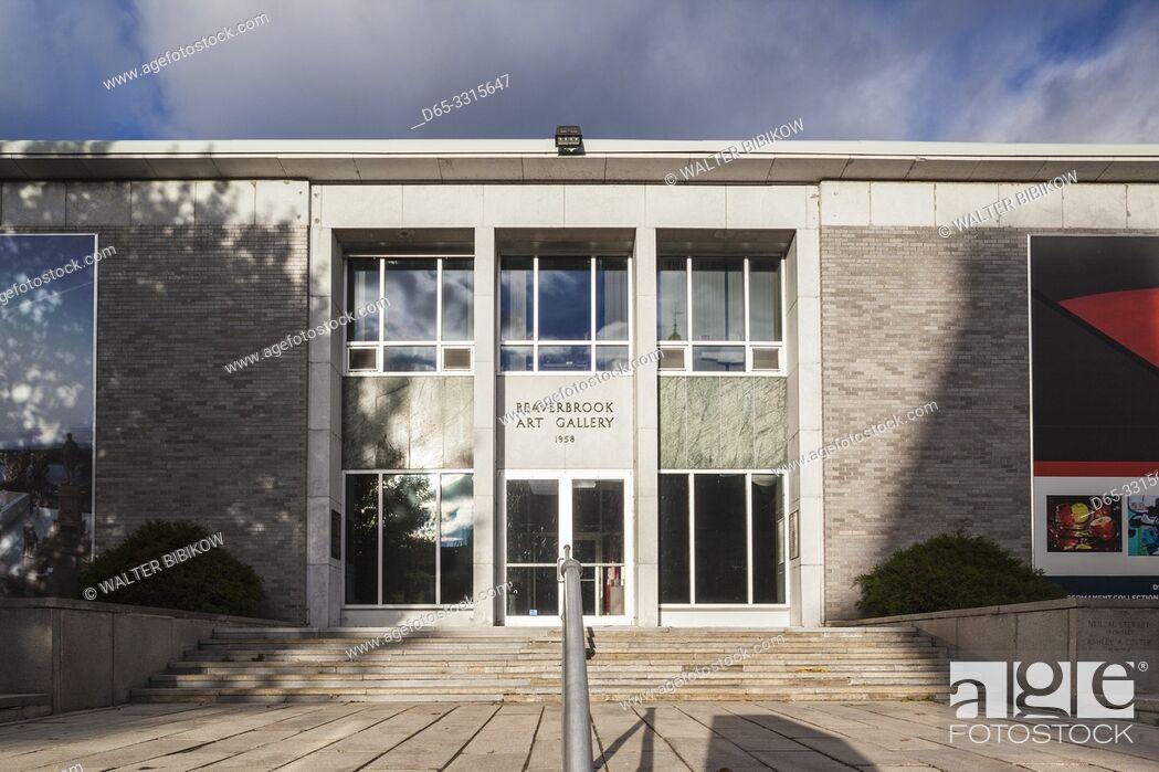 Imagen: Canada, New Brunswick, Central New Brunswick, Fredericton, Beaverbrook Art Gallery, exterior.