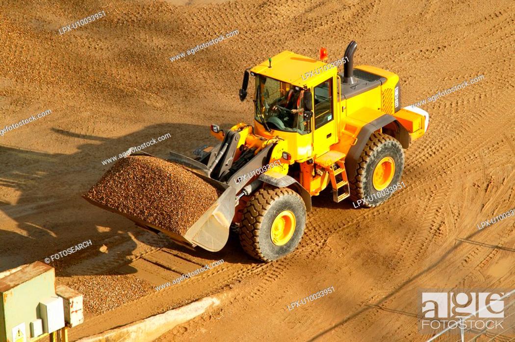 Stock Photo: Excavator.