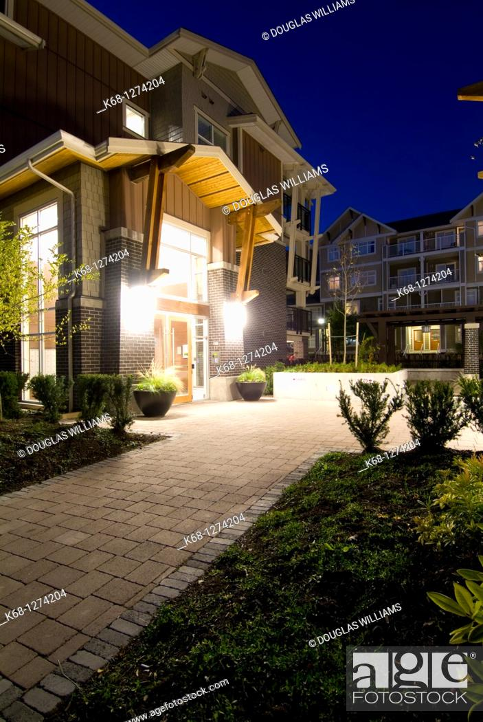 Stock Photo: townhouse development in Burnaby, BC, Canada.