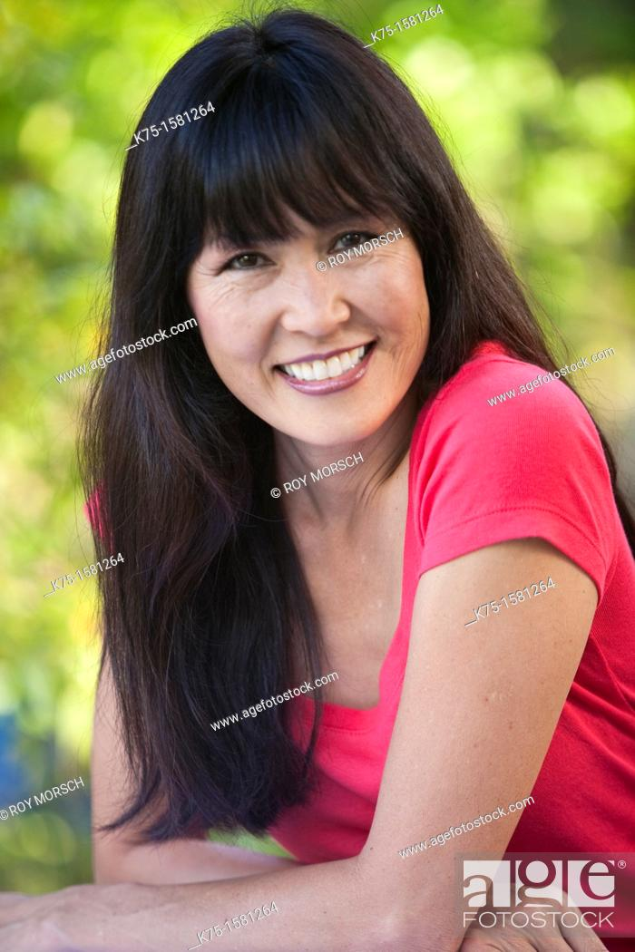 Stock Photo: Portrait of an attractive woman.