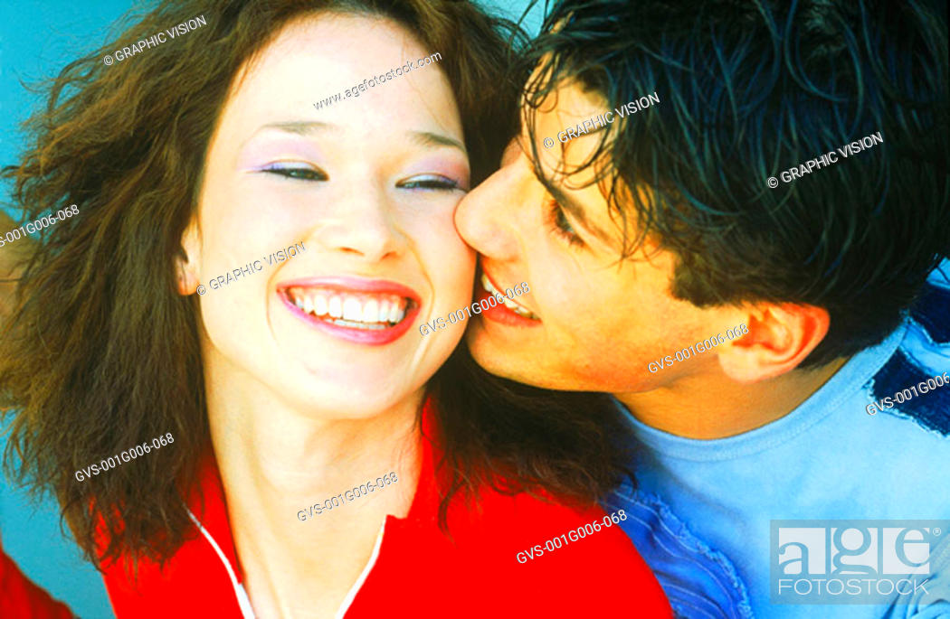 Stock Photo: Young couple laughing.