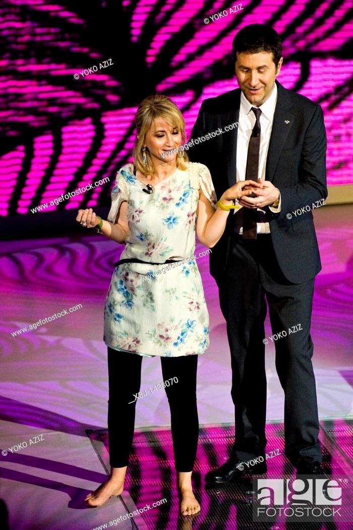 Imagen: 15 05 2011, Milan, Telecast RAI 3 'Che tempo che fa'  Luciana Littizzetto and Fabio Fazio.