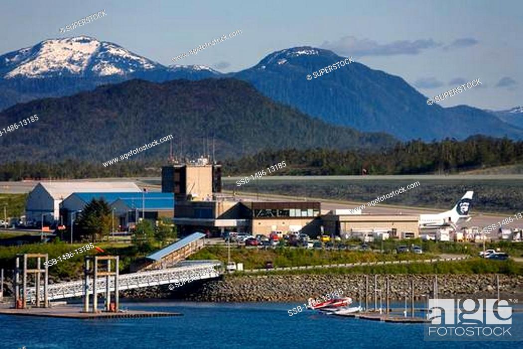 High Angle View Of An Airport Ketchikan International Airport Tongass Narrows Ketchikan Alaska Stock Photo Picture And Rights Managed Image Pic Ssb 1486 13185 Agefotostock