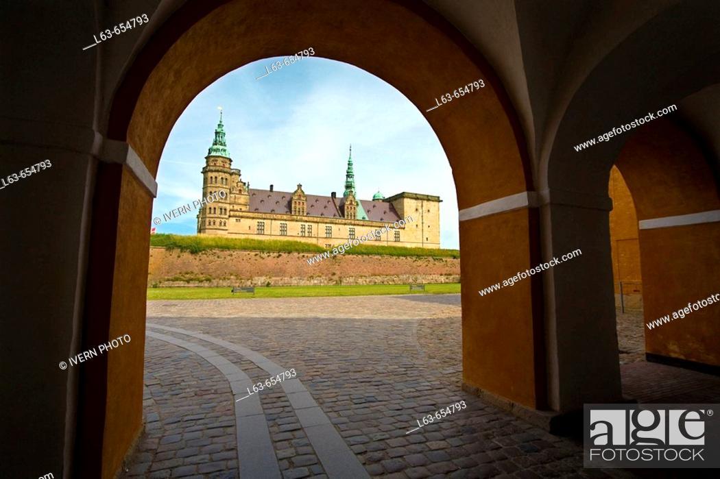 Stock Photo: Kronborg Slot (castle). Helsingor. Sjaelland. Denmark.