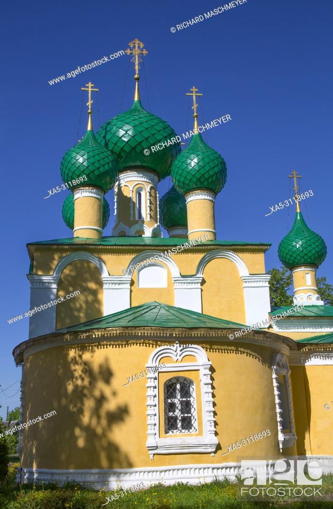 Stock Photo: Church of John the Baptist, Alexey Monastery, Uglich, Golden Ring, Yaroslavl Oblast, Russia.