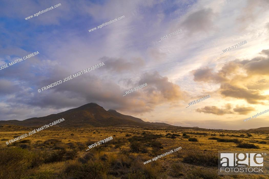 Stock Photo: Cabo de Gata Natural Park in Almeria, Spain, Europe. The Cabo de Gata-Níjar Maritime-Terrestrial Natural Park is a Spanish-protected natural area located in.