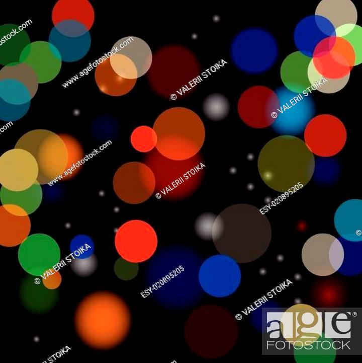 Stock Vector: blurred lights.