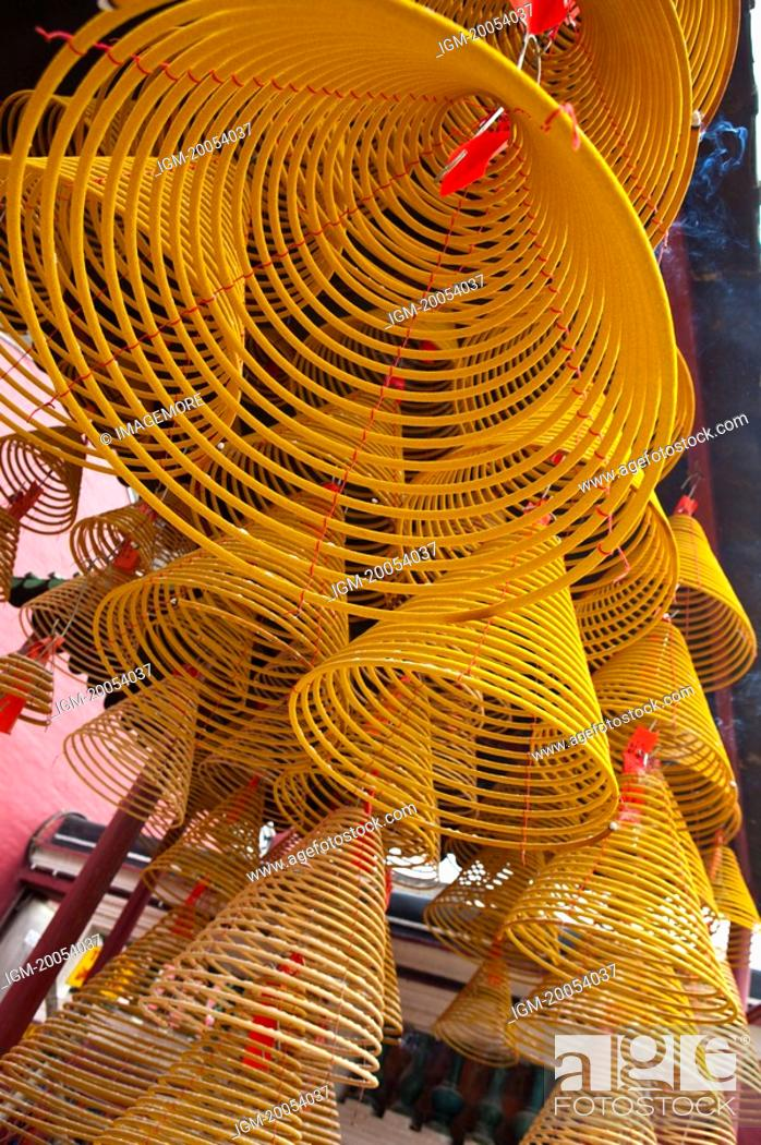 Stock Photo: China, Macou, A-Ma Temple, Incense Coils, UNESCO, World Cultural Heritage.