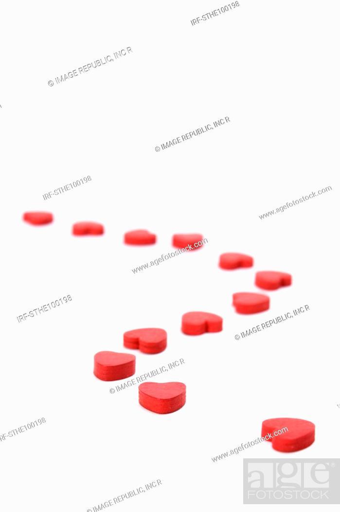 Stock Photo: heart shapes.