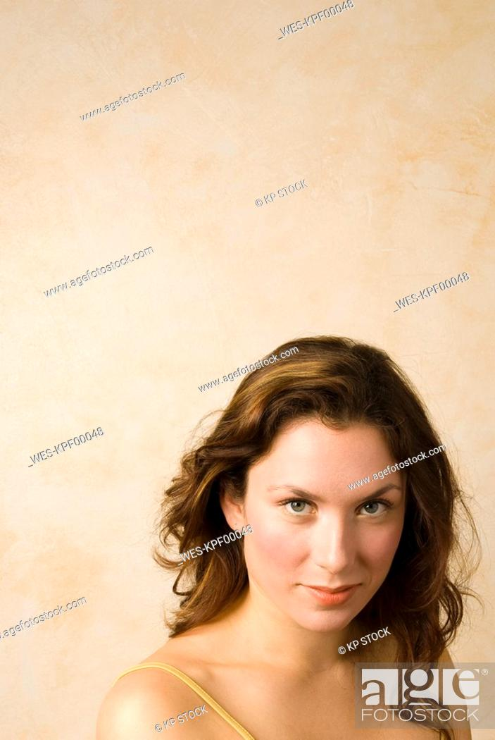 Stock Photo: Young woman, Portrait, close up.
