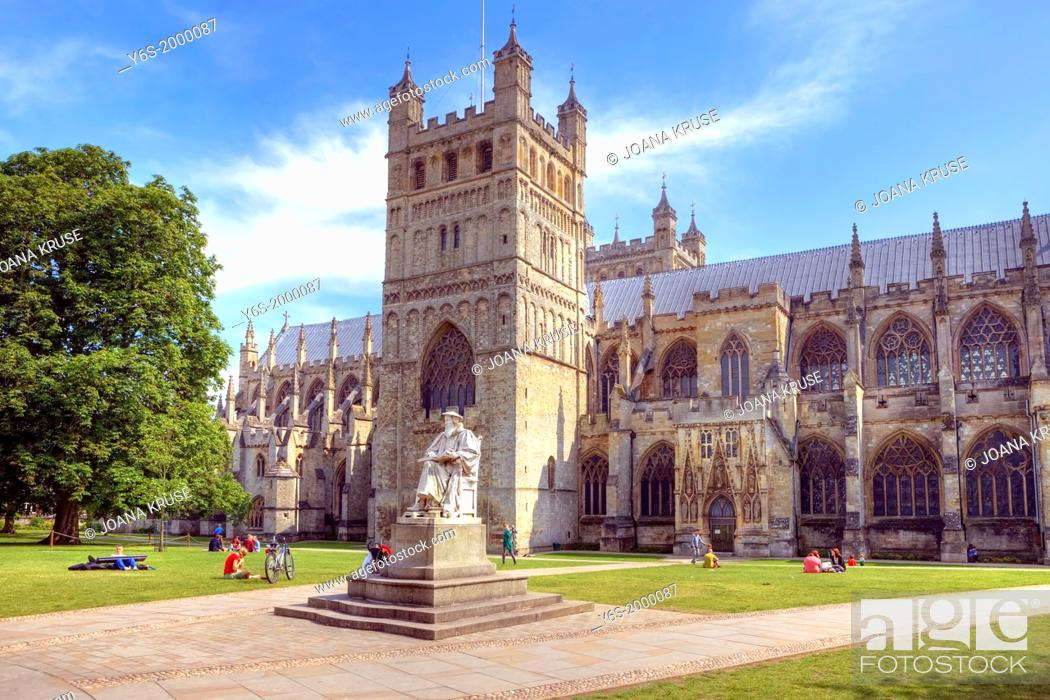 Stock Photo: Exeter Cathedral, Devon, England, United Kingdom.