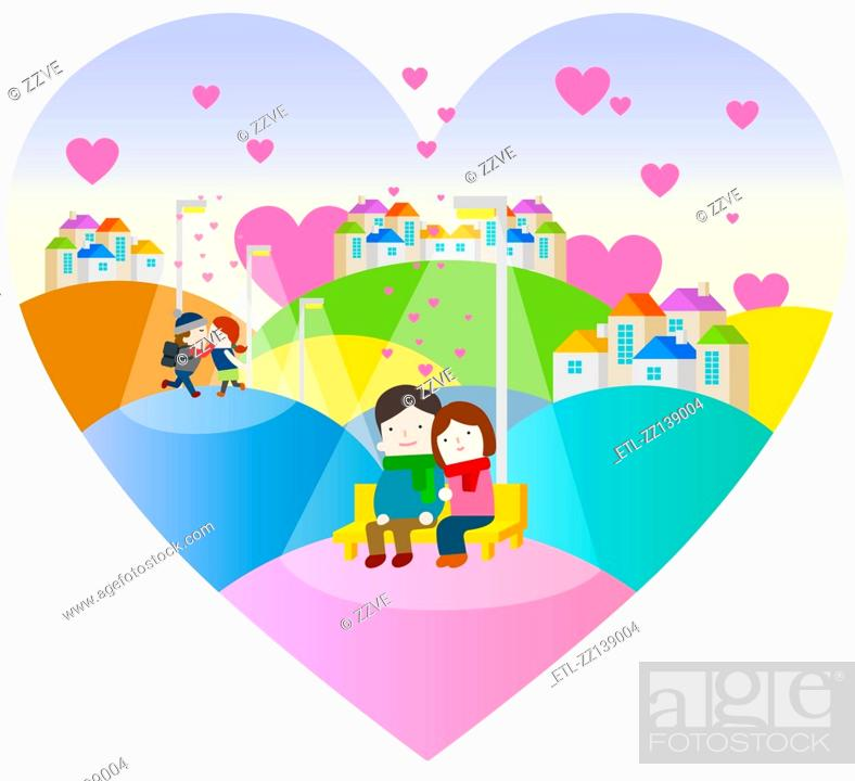 Stock Photo: Village in lovers.