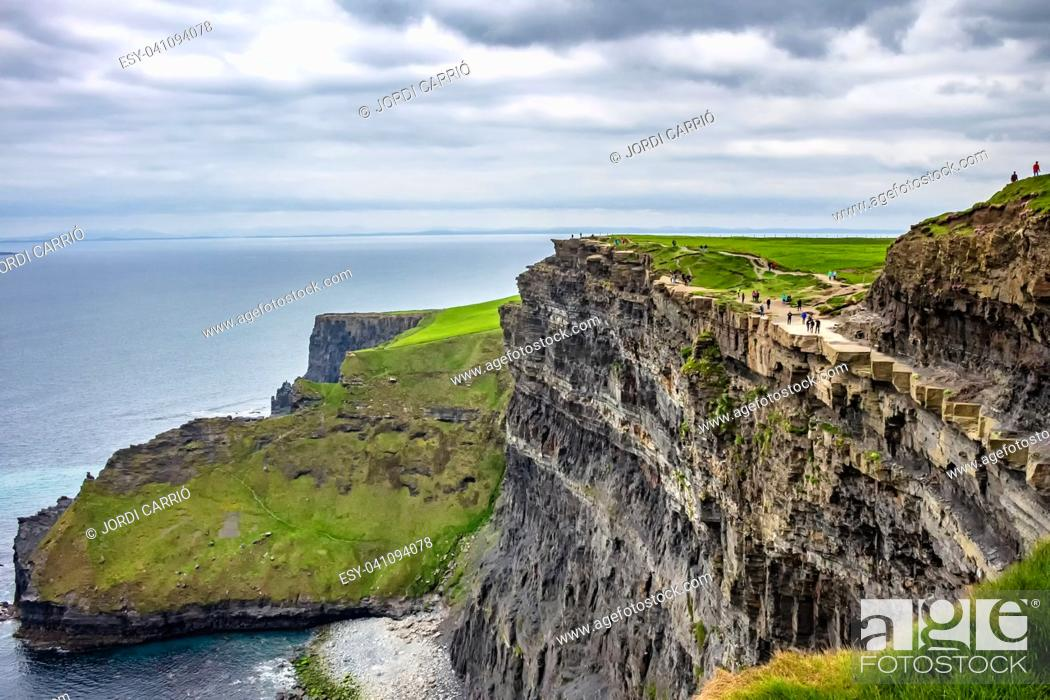 Stock Photo: View of the north viewpoint from the cliffs.