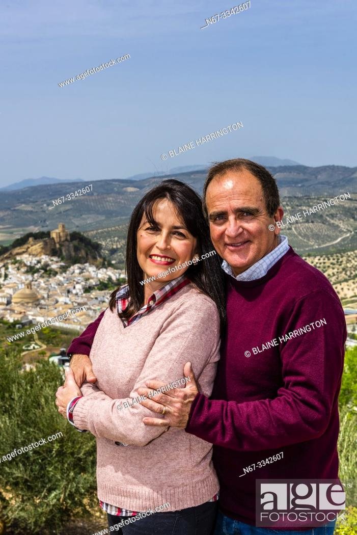 Stock Photo: A portrait of a Cuban couple who live in Montefrio, Granada Province, Andalusia, Spain.