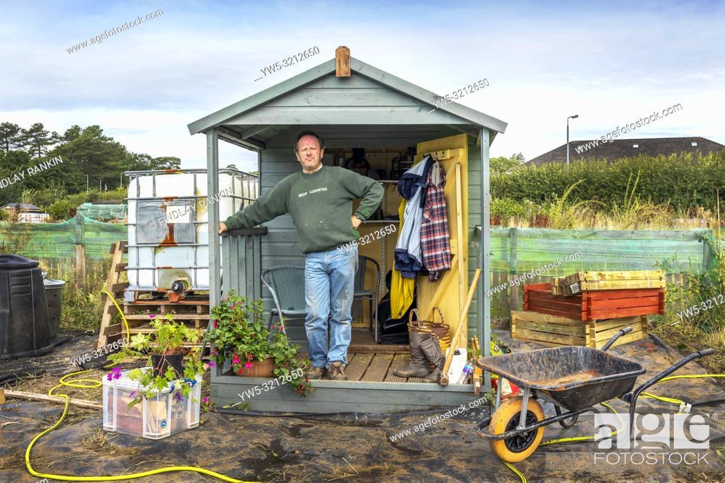 Stock Photo: Robert Connell Plot 26A, Eglinton Growers allotments, Kilwinning, Ayrshire, Scotland.