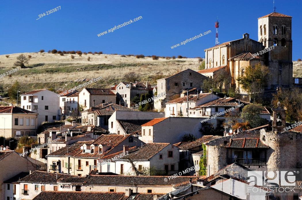 Stock Photo: View of Sepulveda town in Segovia province, Spain.