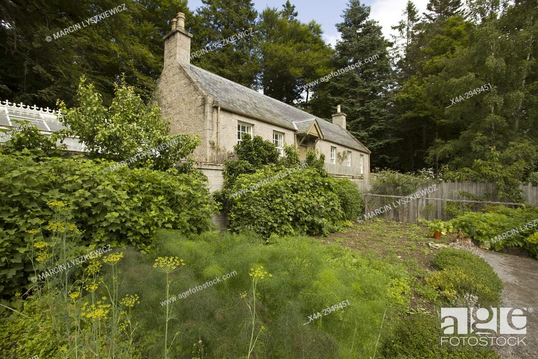 Stock Photo: Garden and House within the Balmoral Estate.