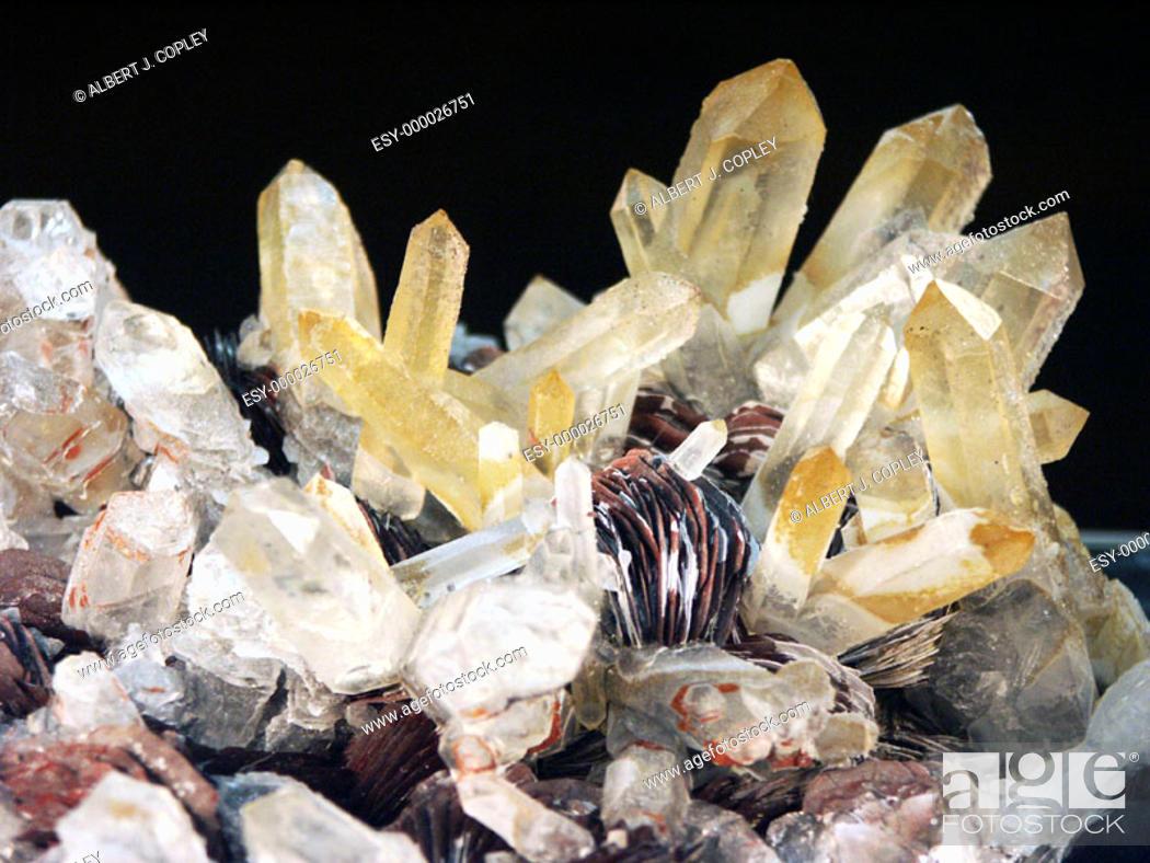 Stock Photo: Quartz hematite.