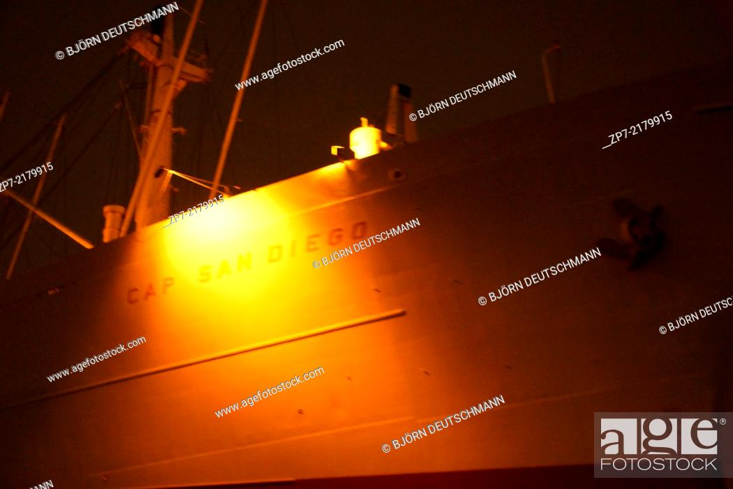 Stock Photo: The museum ship Cap San Diego.