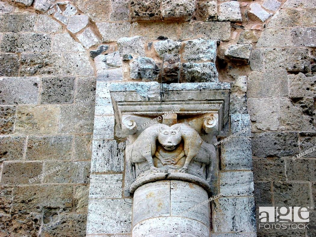 Stock Photo: The Abbey of Sant'Antimo.