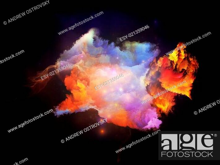Stock Photo: Cool Design Nebulae.