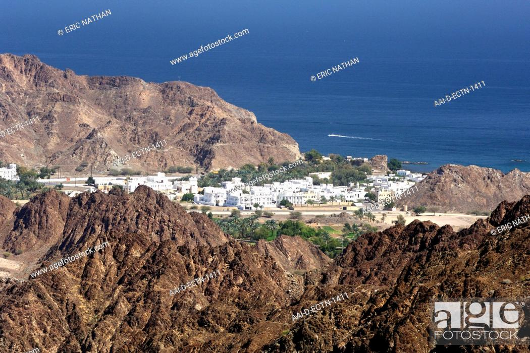 View across a suburb of new Muscat, the capital of the