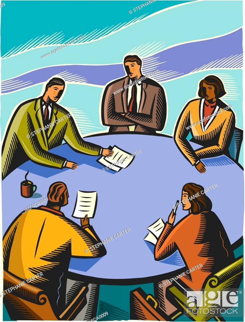 Stock Photo: boardroom meeting.