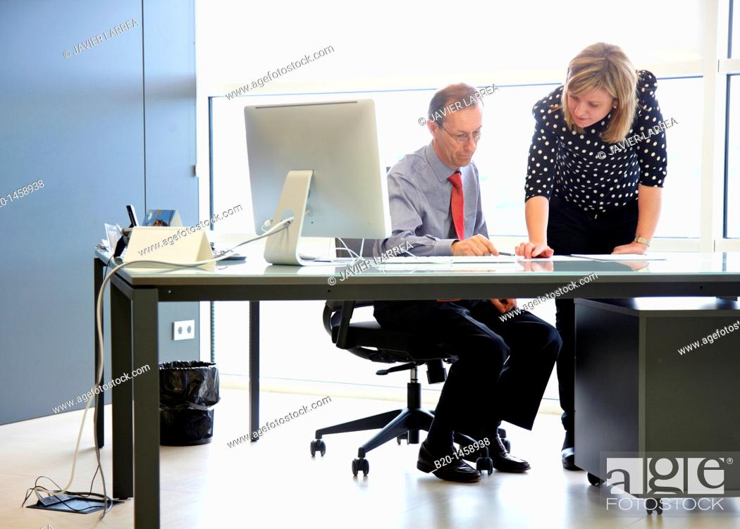Stock Photo: Office work, IkerChem research lab, design and synthesis of new chemical entities with therapeutic applications in oncology.