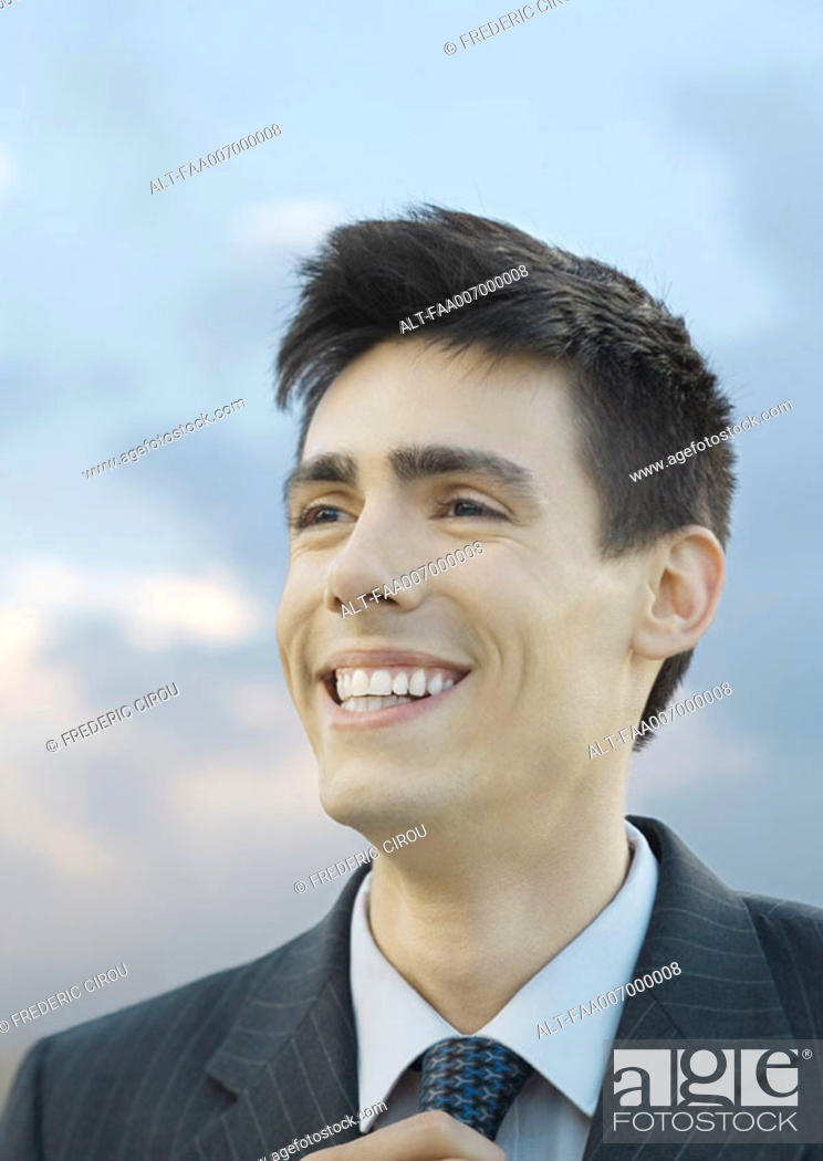 Stock Photo: Young businessman.