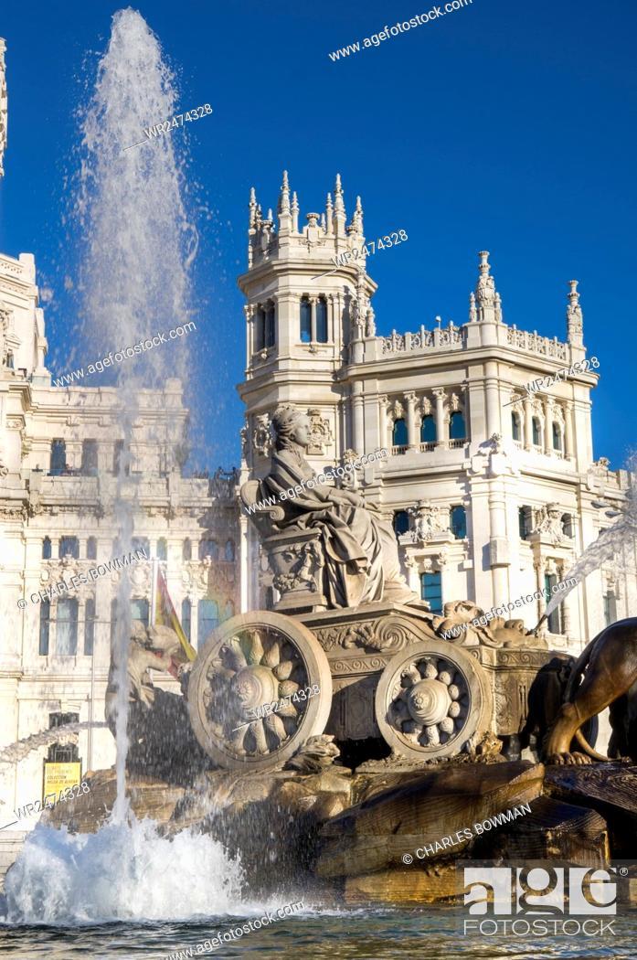 Fountain Plaza De Cibeles Palace Palacio De Comunicaciones