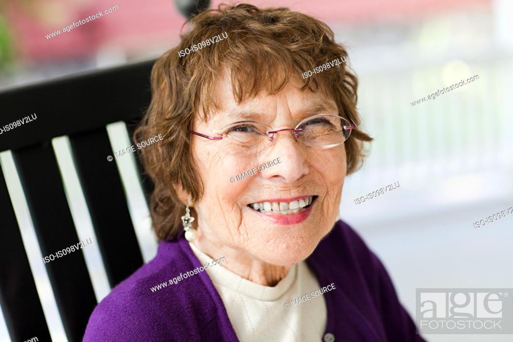 Stock Photo: Portrait of a senior woman.