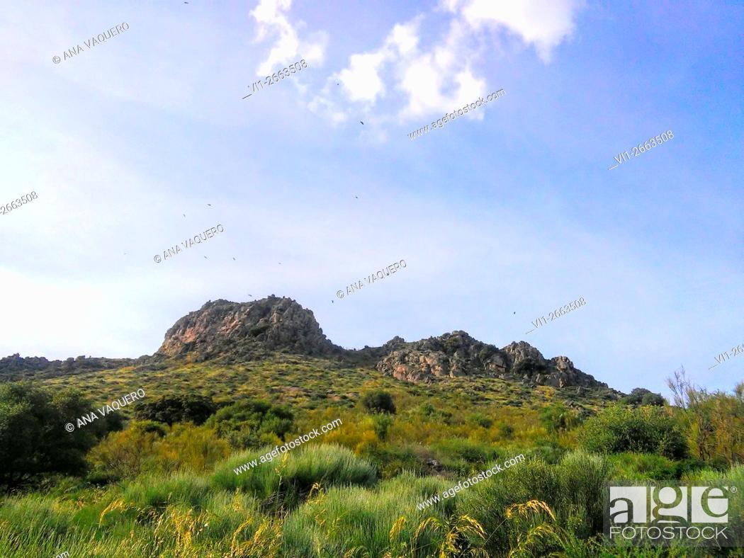 Stock Photo: Sierra de Santa Cruz, Cáceres province, Extremadura, Spain.