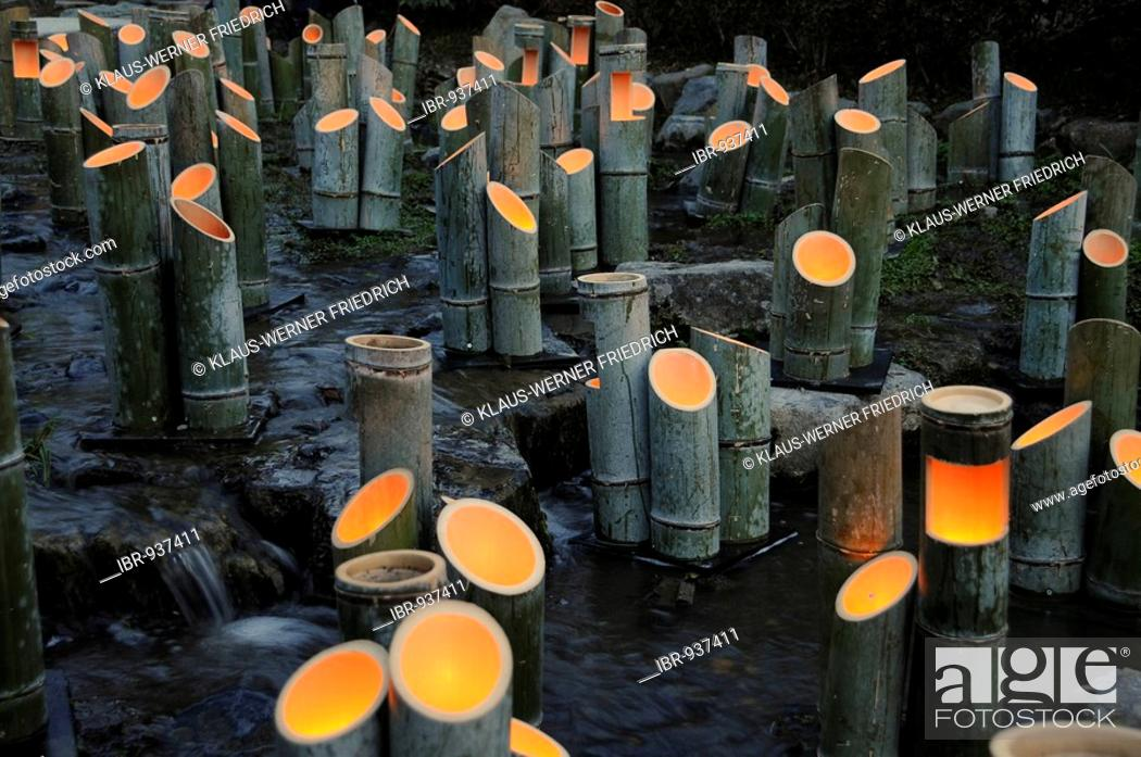 Bamboo Lamps Light Art In A Stream In Maruyama Park Kyoto Japan Asia Stock Photo Picture And Rights Managed Image Pic Ibr 937411 Agefotostock