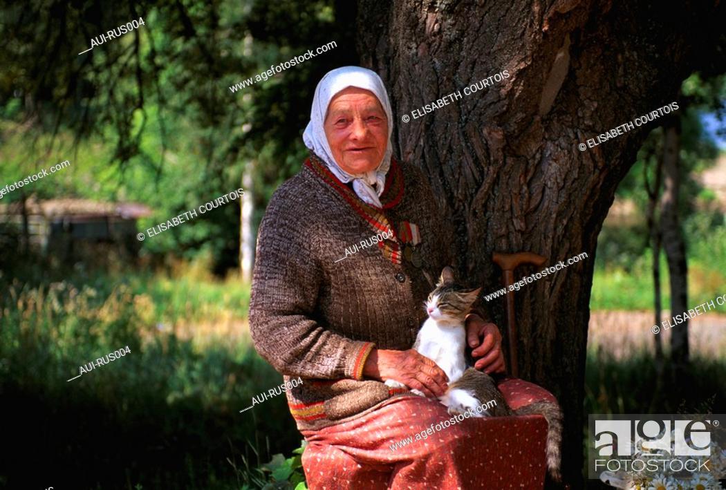Stock Photo: Russia - Babouchka.